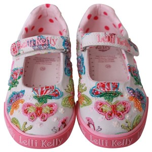 lelli kelly mariposa canvas dolly shoes
