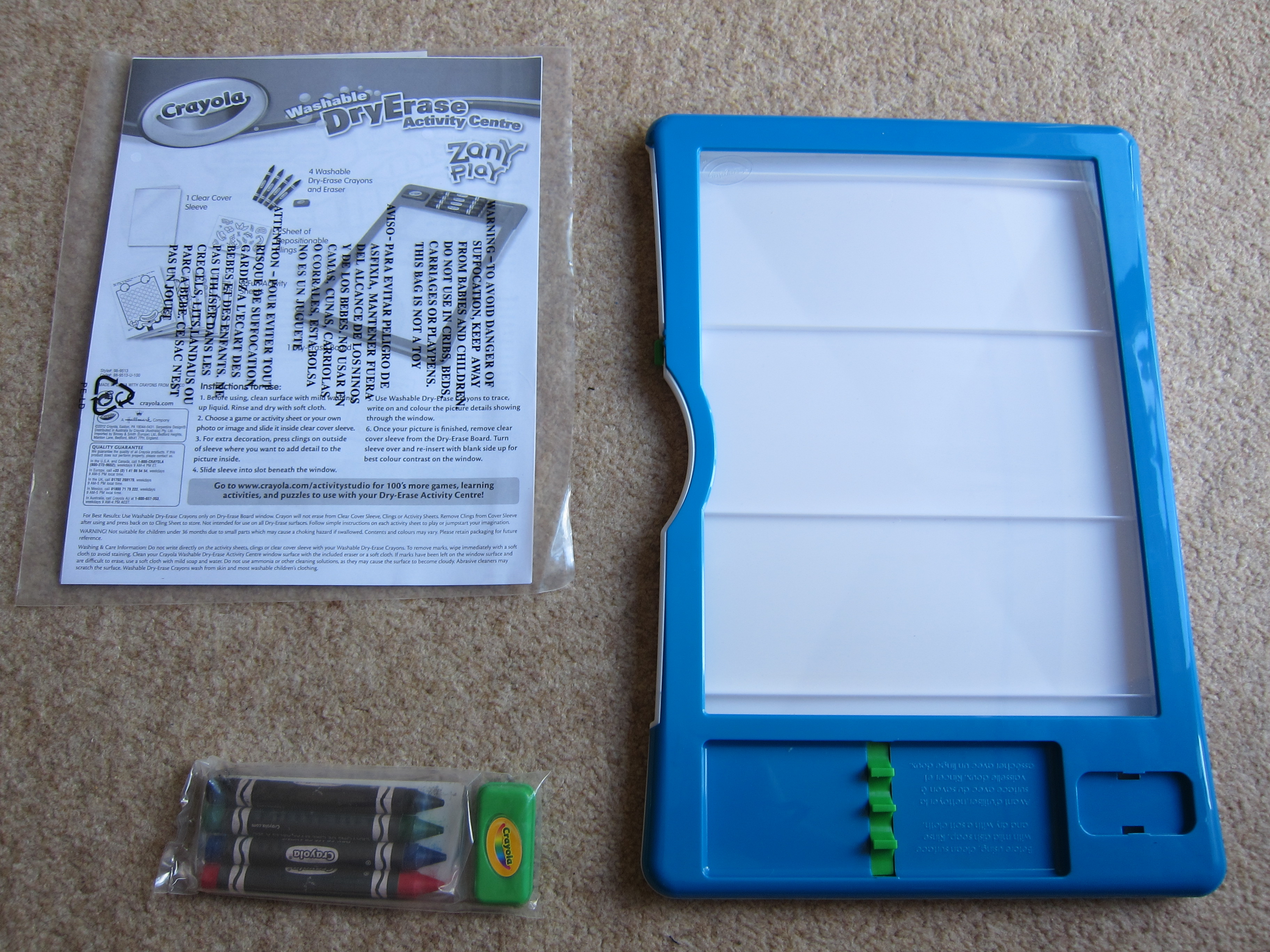 crayola dry erase activity centre review blog by baby