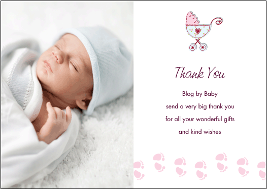 baby thank you cards blog by baby