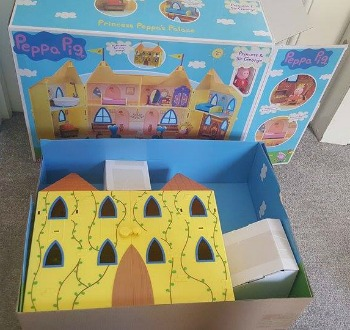 princess peppa castle review unboxing