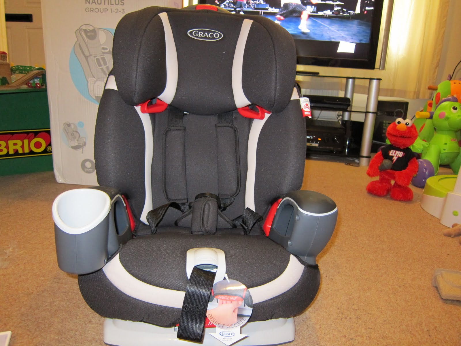 Then Remove The Cardboard Bits In Middle Whole Car Seat Can Be Folded Together To A Sitting Position It Clicks Let You Know Has Been