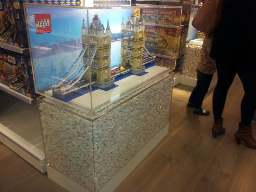 As You Walk Around The Floor There Is Display Cabinets With Some Amazing  LEGO Creations Inside